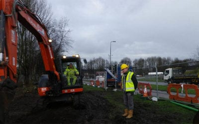 Supervision of an excavation on a  transport site with Japanese knotweed